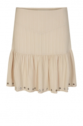 Sofie Schnoor | Skirt with rib pattern Dahlia | beige