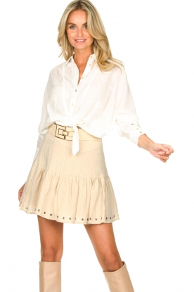 Sofie Schnoor    Skirt with rib pattern Dahlia   beige