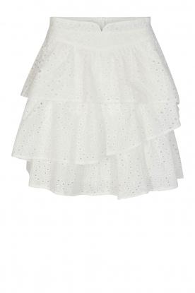 Sofie Schnoor |  Embroidery skirt Shaela | white