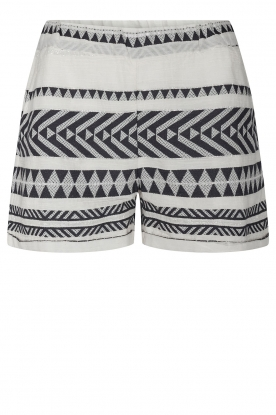 Sofie Schnoor |  Cotton shorts with aztec print Louie | black