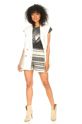 Look Cotton shorts with aztec print Louie