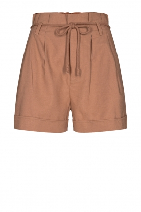 Sofie Schnoor | Cotton paperbag shorts Charly | brown