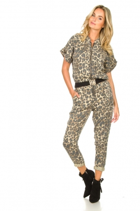 Look Jumpsuit with panther print Lana