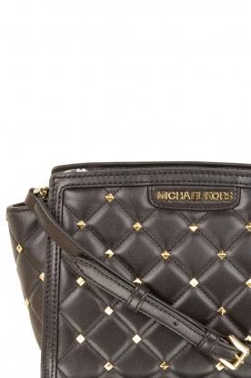 MICHAEL Michael Kors | Leren Tas Selma klein | zwart