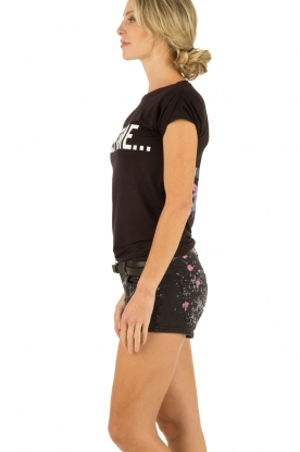 NIKKIE | Short Savannah | zwart-roze