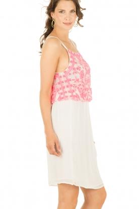 Dress Timeo | white-pink
