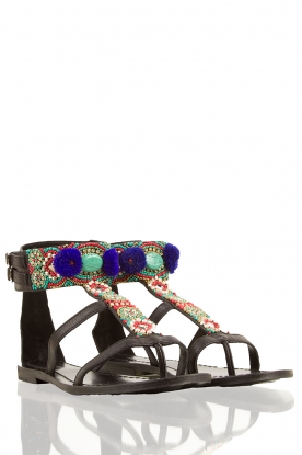 Leather sandals Thor | black