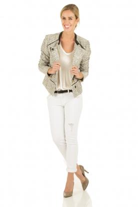 Boucle jacket Galore | white