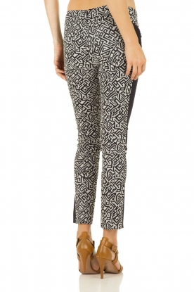 Broek Lily | donkerblauw-wit