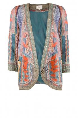 Silk blazer Indigo | multi