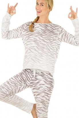 Juvia | Trui Zebra | grijs