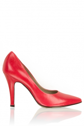 Leather pumps Nicole | red
