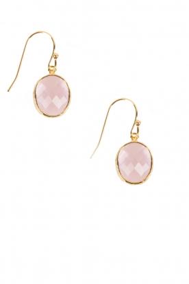 Earrings Ovaal | pink