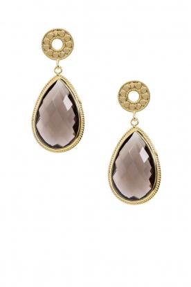 22K gold earrings Goldheart | brown