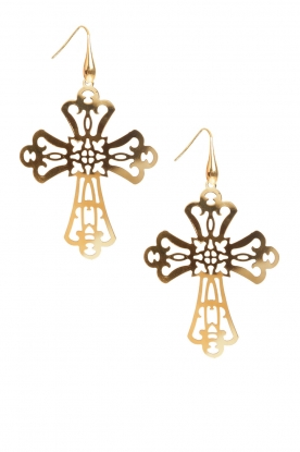 Gold plated earrings Cross | gold