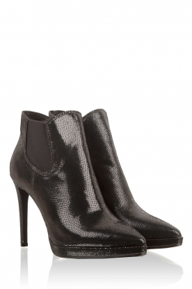 Leather ankle boots Paula | dark green