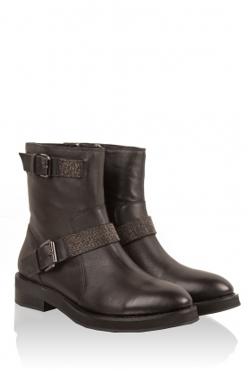 Leather boots Lucia | black