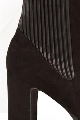 Suède enkellaarsjes Evita | zwart