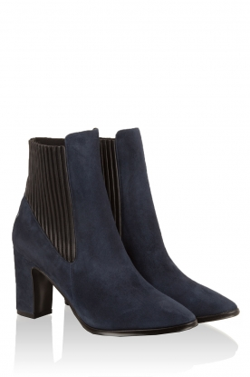 Suede ankle boots Evita | navy