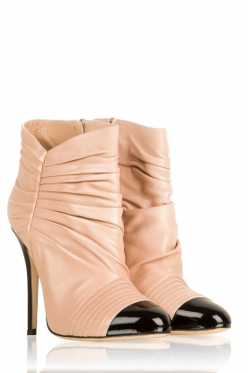 Leather ankle boots Prima | nude