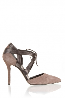 L'enfant Terrible | Leren pumps Wilde Side | taupe