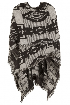 Poncho Ethnic Cape | grey