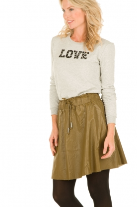 Faux-leather skirt Parish | olive green