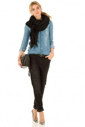 Set | Girlfriend jeans Arizona | zwart