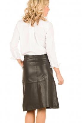 Leather skirt Jupi | black
