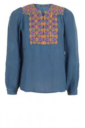 Antik Batik | Blouse Kwanita | blauw
