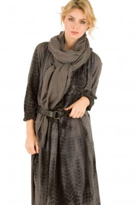 Antik Batik | Leren riem Obi | zwart