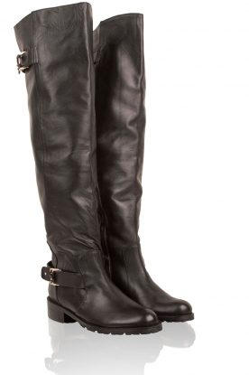 Leather boots Florine | black