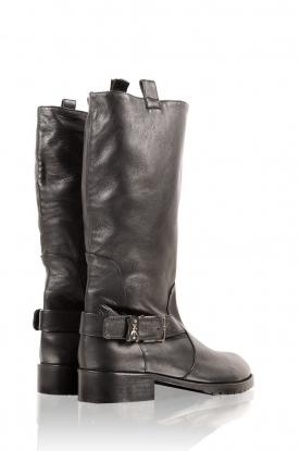 Patrizia Pepe | Leren laarzen Stilla | zwart