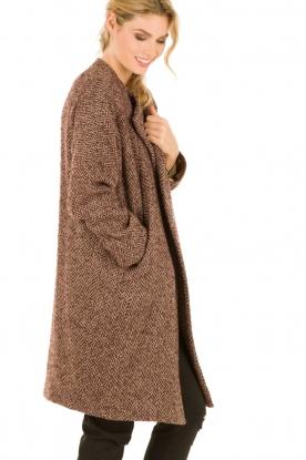 Boucl� coat Meira | burgundy