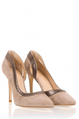 Suede pumps Alessia | taupe