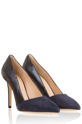 March23 | Suede pumps Lolita | donkerblauw