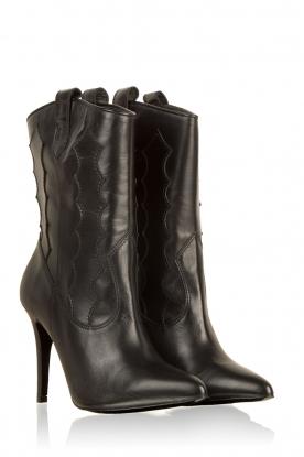 March23 | Leren laarzen Rebecca | zwart