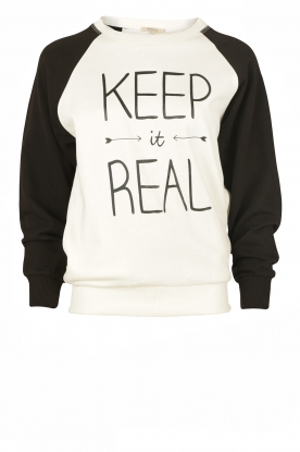 Sweater Keep It Real | black-white