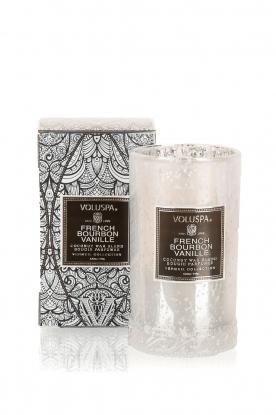 Voluspa | Geurkaars Petite Maison French bourbon vanille 149gr | wit