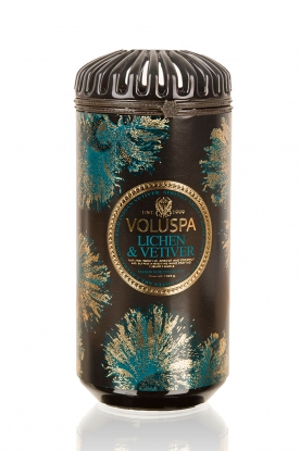 Voluspa |  Scented cancle Ceramica Lichen vetiver | multi
