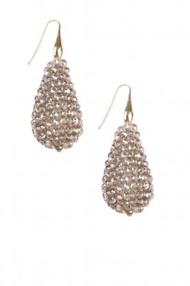 Earrings Crystal Drops XL | bronze
