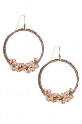 Earrings Crochet Hoops | taupe