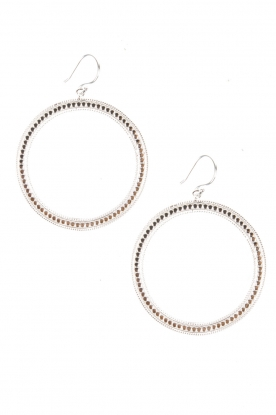 Sterling silver earrings Circle of Inspiration