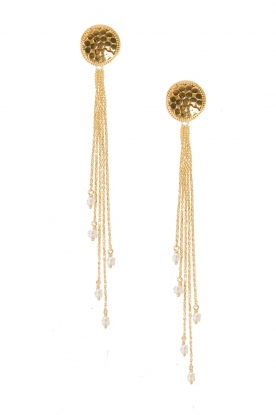 Close to Zen |  Gold plated earrings Strings of Joy | gold