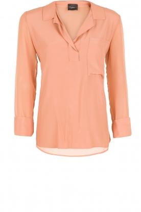 Zijden blouse Remi | zalm roze