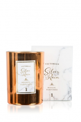 Victorian Candles | Geurkaars Silver Rain | kopergoud