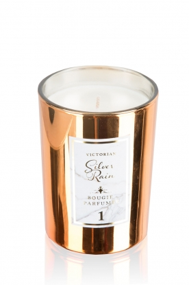 Victorian Candles |  Scented candle Silver Rain | copper gold