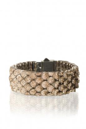 Bracelet Reptile small | light gold