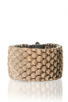 KMO Paris | Armband Reptile medium | goud