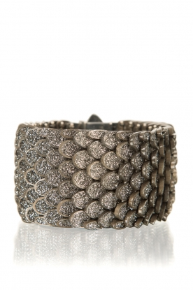 KMO Paris |  Bracelet Reptile medium | black-silver